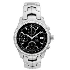 TAG Heuer Stainless Steel Link Chronograph Automatic Wristwatch Ref CJF2117