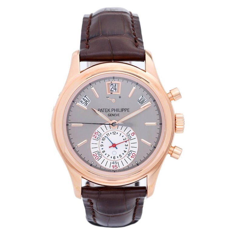 Patek Philippe Rose Gold Calatrava Chronograph Automatic Wristwatch Ref 5960