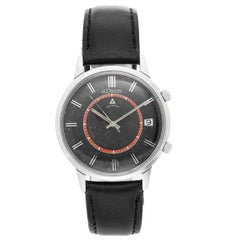 Jaeger-LeCoultre Stainless Steel Vintage Memovox Manual Wristwatch