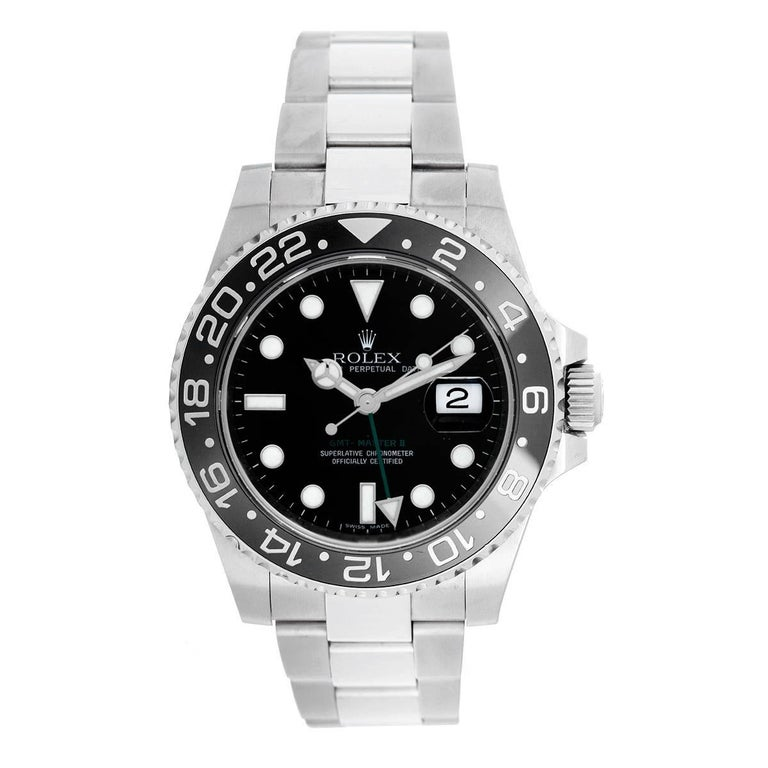 Rolex Stainless Steel GMT-Master II Automatic Wristwatch Ref 116710