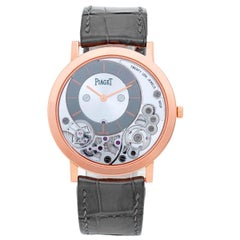 Piaget Rose Gold Skeleton Altiplano Manual Wristwatch