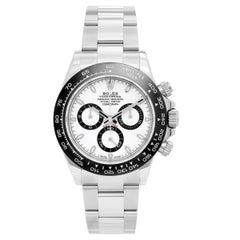 Rolex Stainless Steel Ceramic Black Dial Cosmograph Daytona Automatic Wristwatch