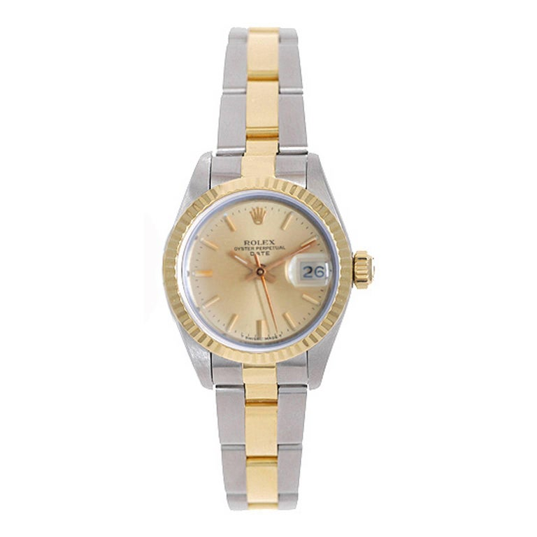 Rolex yellow gold Stainless steel Ladies Datejust Two-Tone Automatic Wristwatch