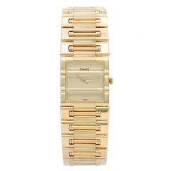 Piaget Yellow Gold Dancer champagne dial Quartz Wristwatch Ref. 80317 K81