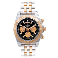Breitling Rose Gold Stainless Steel Chronomat 44 Automatic wristwatch
