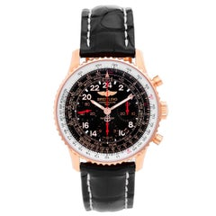 Breitling Rose Gold Navitimer Cosmonaute Automatic Wristwatch Ref RB0210