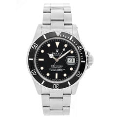 Rolex Stainless Steel Submariner Diver Automatic Wristwatch ref 16610