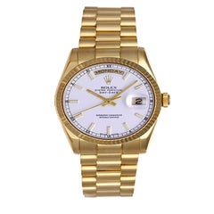 Rolex yellow gold President Day-Date White Luminous Markers automatic Wristwatch