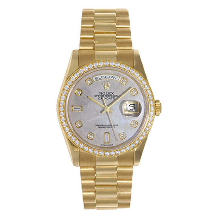 Rolex yellow gold President Day-Date automatic Wristwatch Ref 118348