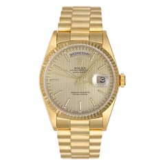 Rolex yellow gold President Day-Date Tapestry Dial Automatic wristwatch