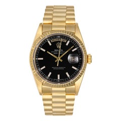 Rolex yellow gold President Day-Date Champagne Dial Automatic Wristwatch