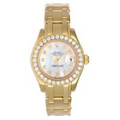 Rolex Ladies yellow gold Diamond Masterpiece Pearlmaster automatic Wristwatch