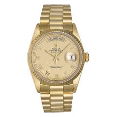 Rolex yellow gold Champagne Dial President Day-Date Automatic wristwatch