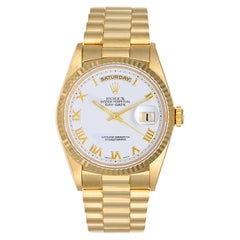 Rolex yellow gold White dial President automatic wristwatch ref 18238
