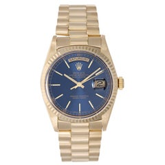 Rolex yellow gold Blue Dial President Day-Date wristwatch ref 18238