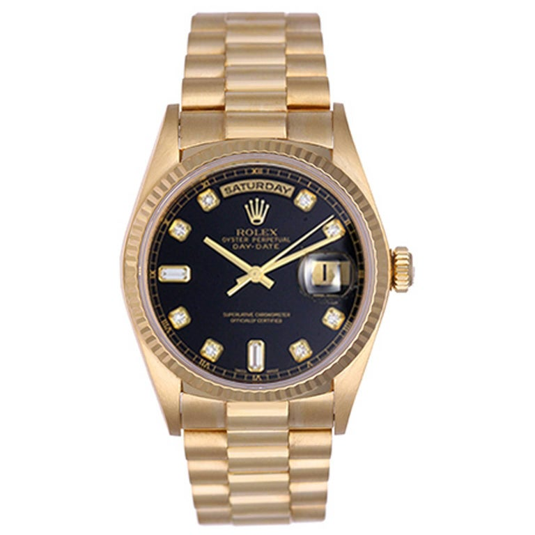 Rolex Yellow Gold President Day-Date Wristwatch ref 18038