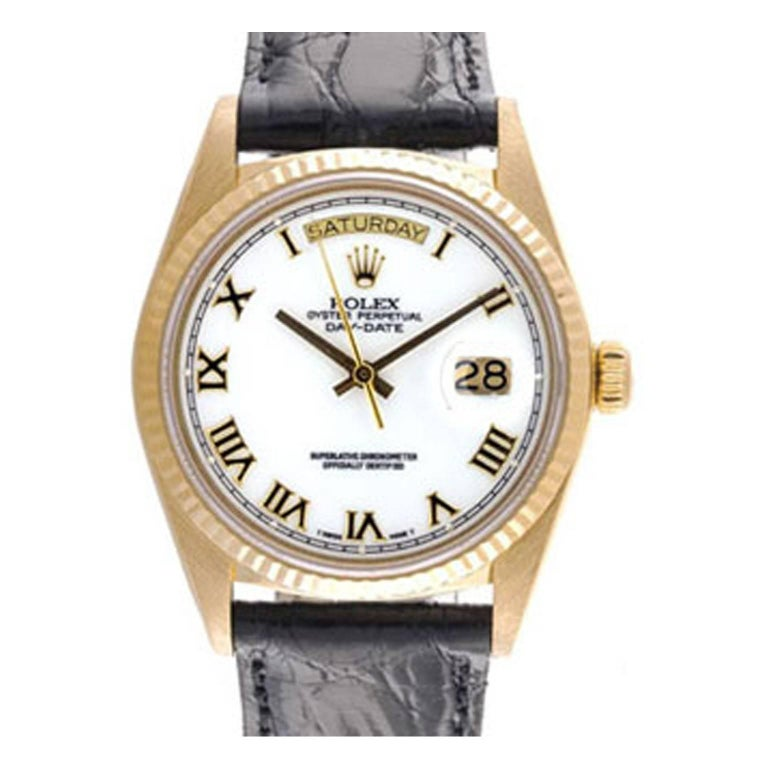 Rolex Yellow Gold President Day-Date Automatic Wristwatch Ref 18038