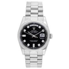 Rolex White Gold Diamond President Day-Date Automatic Wristwatch Ref 118239