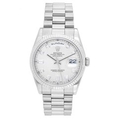 Rolex White Gold President Day-Date Wristwatch Ref 118239