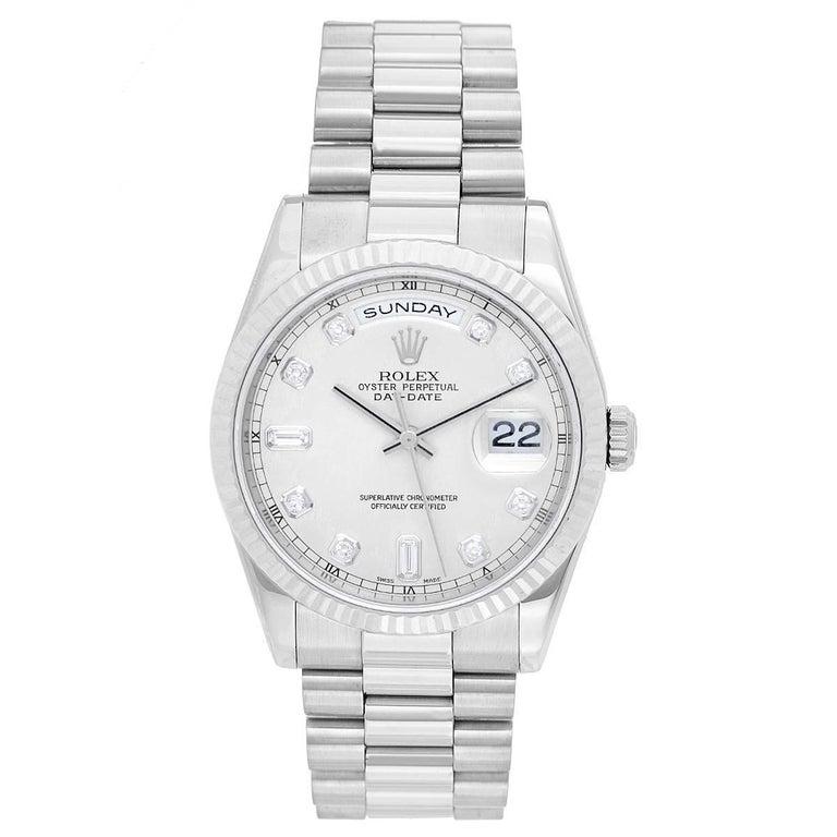 Rolex White Gold President Day-Date Wristwatch Ref 118239