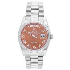 Rolex White Gold President Day-Date Havana Dial Wristwatch 118239