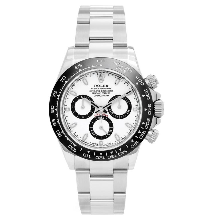 Rolex Stainless Steel Ceramic Cosmograph Daytona Automatic Wristwatch