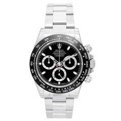 Rolex Stainless Steel Ceramic Daytona Black Dial Cosmograph Automatic Wristwatch