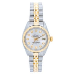 Rolex Ladies Yellow Gold Stainless Steel Datejust Automatic Wristwatch Ref 6917
