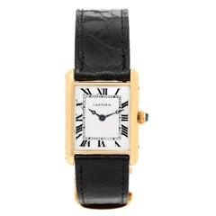 Cartier Ladies Yellow Gold Vintage Tank Manual Wristwatch