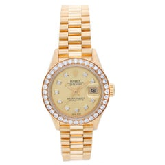 Rolex Ladies Yellow Gold President Automatic Wristwatch Ref 69178