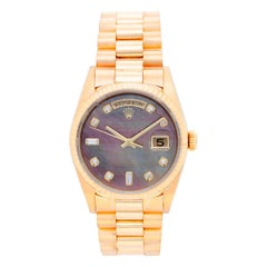 Rolex Yellow Gold President Day Date Automatic Wristwatch