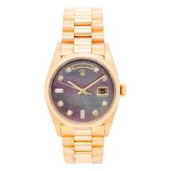 Rolex Yellow Gold President Day Date Factory Bezel Automatic Wristwatch