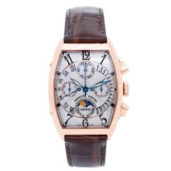 Franck Muller Rose Gold Perpetual Moonphase Bi-Retro Chronograph Wristwatch