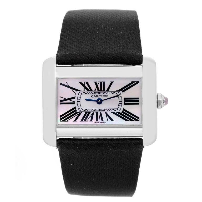 Cartier Stainless Steel Tank Divan Quartz Wristwatch Ref W6302003