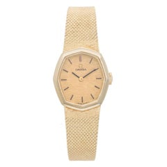 Omega Ladies Yellow Gold Vintage Quartz Wristwatch