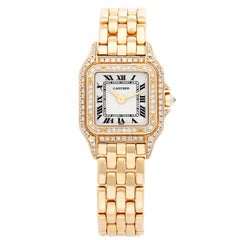 Cartier Ladies Yellow Gold Diamond bezel Panther Quartz Wristwatch