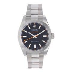 Rolex  Stainless steel Milgauss Automatic Wristwatch Ref 116400
