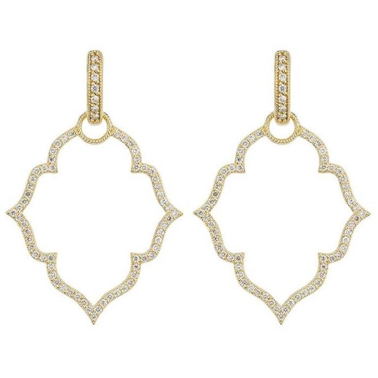 Jude Frances Diamond Huggie and Frame Earrings