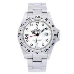 Rolex Stainless Steel Explorer II White Dial with Date Automatic Wristwatch