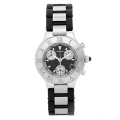 Cartier Stainless steel Must De 21 Cartier Chronoscaph Chronograph Wristwatch