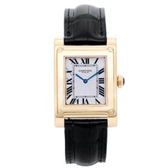 Cartier Yellow Gold Tank A Vis F Watch Privee Collection Manual Wristwatch