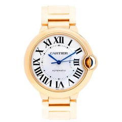 Cartier Yellow Gold Ballon Bleu Midsize Automatic Wristwatch Ref W69003Z2