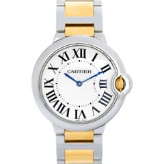 Cartier Yellow Gold Stainless Steel Ballon Bleu Midsize Quartz Wristwatch