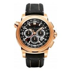 Carl F. Bucherer Rose Gold Patravi Traveltec II Automatic Wristwatch