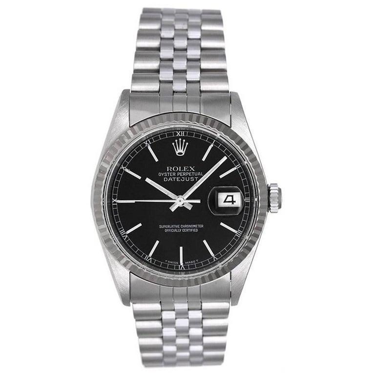 Rolex Stainless Steel Datejust Automatic Wristwatch Ref 16234