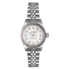 Rolex Ladies White Gold Stainless Steel Datejust automatic Wristwatch