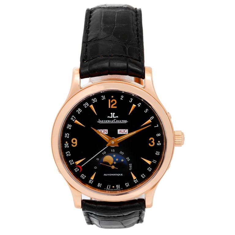 Jaeger LeCoultre Rose Gold Master Date Automatic Wristwatch