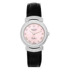 Rolex Ladies White Gold Cellini Cellissima Silver-Rose Dial Quartz Wristwatch