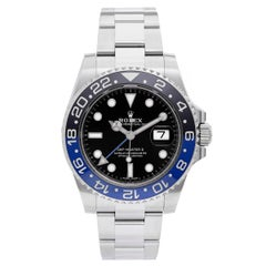 Rolex Stainless Steel Black Dial GMT-Master II Automatic Wristwatch