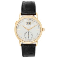 A. Lange & Sohne Langematik Yellow Gold Automatic Wristwatch
